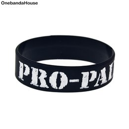 Glow Party Decorations Australia - Wholesale 50PCS Lot 1 Inch Wide PRO-PAIN for Music Fans Silicone Rubber Wristband Classic Decoration Bracelet