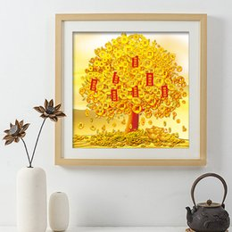 China Pole Australia - Diamonds Picture New Pattern Get Rich Tree Diamonds Embroidery A Living Room Corridor Full Of Drills Shake Qian Shu Cross Embroidery
