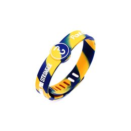 Chinese  High quality fashion jewelry balance silicone wristband rubber power sport bracelet energy bangle for george signature manufacturers