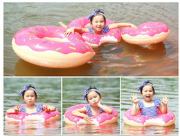 Beach Rings NZ - Donut Swimming Float Inflatable Swimming Rings Water Toys Swimming Pool for Children Life Buoy Beach Toys Summer Toys
