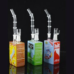 """cereal boxes 2019 - Hitman Glass Bongs Cereal Box Oil Rigs Detachable Neck Juice Box Themed Hitman Glass Water Pipe 9"""" inch Liquid Sci"""