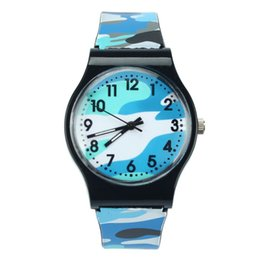 Camouflage dropshipping online shopping - 2018 New Fashion Camouflage Children kids Watch Quartz Wristwatch For Girls Boy Blue watches reloj mujer watches Dropshipping