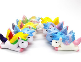 Moda Unicish Squishy brinquedos Lento Rising Jumbo Toy Animais charme cinta celular Bonito Squeeze pônei cavalo Mini Squishies Acessórios Do Traje