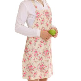 Wholesale Women Dress Restaurant Home Kitchen Cooking Apron Bib Floral Pattern Precise x30406