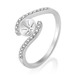 DIY ювелирные изделия CZ твердые 925 серебряное кольцо монтажное кольцо аксессуары кольцо пустой для жемчуга с размером 6-9