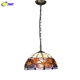 Art decor lAmp online shopping - FUMAT Tiffany Pendant Light Fixture Stained Glass quot European Style Living Bed Room LED Pendant Lights Kitchen Home Decor Lamp
