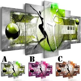 Oil canvas peOple online shopping - No Frame Wall Art Picture Printed Canvas Oil Painting Multi picture Combination Home Dormitory Decor Abstract Dancing People