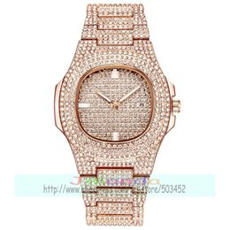 Wholesale 50pcs luxury lady full crystal watch wrap quartz casual designer wrist watch for women bling