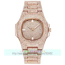 Discount wrap watch wholesale - 50pcs lot luxury lady full crystal watch wrap quartz casual designer wrist watch for women wholesale bling