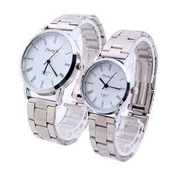 $enCountryForm.capitalKeyWord NZ - Couple Watches Fashion 2018 Lovers Man Couple Stainless Steel Analog Quartz Wrist Watch Watches Clock Dropshipping