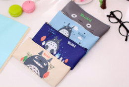 school stationery for kids Australia - Cute Kawaii Fabric Pencil Case Lovely Cartoon Totoro Pen Bags For Kids Gift Zakka kawaii stationery estuches school supplies