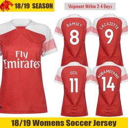 784248af14b 18 19 AUBAMEYANG Womens Soccer Jerseys MKHITARYAN 2018 2019 OZIL LACAZETTE  Woman Football Shirt WELBECK XHAKA RAMSEY Ladies Home Jersey