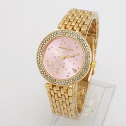 Discount quartz watches for sale - Hot sale luxury brand 34mm diamond RoundSteel strip womens watch QUARTZ clock luxury watches classic fashion Relogio bra