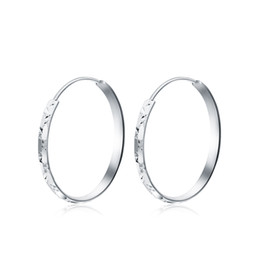 Solid Hoop Earrings UK - Solid Gold Earrings Women Big Circle Hoop Earrings 5.49g