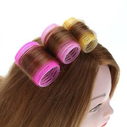$enCountryForm.capitalKeyWord NZ - 6pcs lot Hairdressing Home Use DIY Magic Large Self-Adhesive Hair Rollers Styling Roller Roll Curler Beauty Tool 4 Size