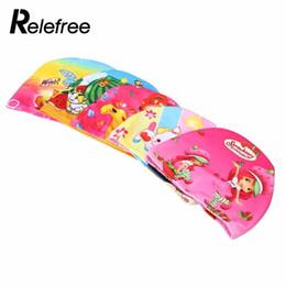 $enCountryForm.capitalKeyWord Australia - Flexible Lovely Printed Children Swimming Cap Waterproof Bathing Stretch Fabric Hat Protect Ears for long hair Kids Color Random