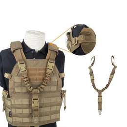 China Adjustable Tactical Gun Rifle Sling Strap 1 One Single Point Strap Safety Belt Rope USA Single Gun Rifle Sling with Metal Hook suppliers