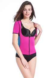 Hot Sweat Body Shapers Women Slimming Vest Tops Thermo Neoprene Waist Short Sleeve Shapewear Plus Size S-3XL