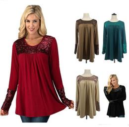 fcee9b738d42b 2018 Autumn Winter Women T-shirts Pullover Hoodies O-Neck Sequin Long  Sleeves Tops Sweatshirts T-shirts Dress for women wholesales