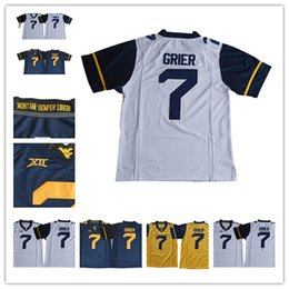 2018 West Virginia Mountaineers Will Grier 7 College Football Jersey XII  Patch Home Away White Navy Yellow 64035e574