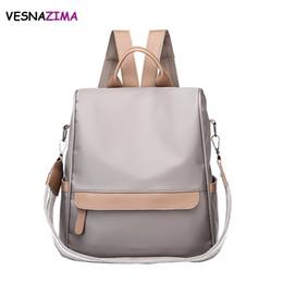$enCountryForm.capitalKeyWord Canada - wholesale Women Backpack School Style Leather Bag For College Simple Design Women Casual Nylon Daypacks mochila Feminine WM682Z