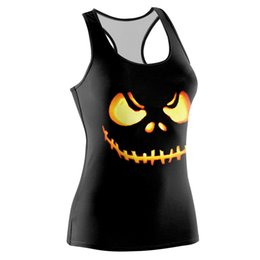 Wholesale new waistcoat designs for sale - Group buy New style Halloween digital printed vest waistcoat Design type collar U type collar plate type self cultivation