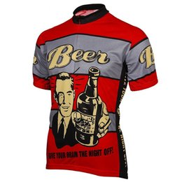 China Summer cycling jersey short sleeve 5 styles of any choice Men's Red Beer cycling clothing bicycle exercise wear ropa wholesale cheap boy girls lycra clothing suppliers