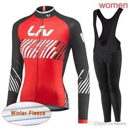 LIV team Cycling Winter Thermal Fleece jersey (bib) pants sets hot high  quality Quick Dry Lycra 3D gel pad Ropa Ciclismo women C2111 b6fea1b8d