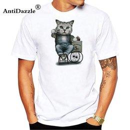 $enCountryForm.capitalKeyWord Canada - Antidazzle New 2018 Summer Fashion T Shirt Men Short Sleeve Blusas Femininas Cool Cat Print Tops Cross Tee Tshirts