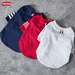 T Shirts Style Australia - Hipidog Pet Dog Cat Simple Style Spring Summer Shirt 3 Colors Polo T-shirt Clothes Fashion Costume for Teddy Bichon Small Dogs