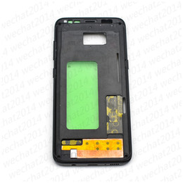oem metal case NZ - 50PCS OEM Metal Middle Bezel Frame Case for Samsung Galaxy S8 G950 G950P G950f Housing with Side Buttons free DHL