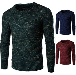 Cashmere sweater mens online shopping - High Quality Standard Solid Pullovers Fashion O Neck Mens Sweaters Auturm Winter Cashmere Men Formal Knitted Sweater
