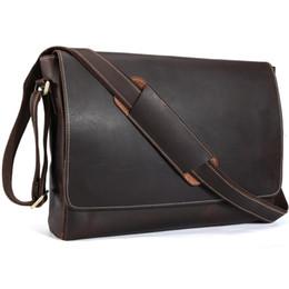 Handmade Genuine Leather 15 inch Laptop Messenger Bag Men Simple Vintage  Style Cross body Shoulder Briefcase Large Satchel 1153 9cca7f2611d0f