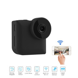 Hd sport camera wifi ip online shopping - C3 WiFi IP Mini Camera Wireless control With Magnetic Clip Wearable P HD night vision sports Camera home security surveillance camcorder