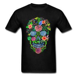 $enCountryForm.capitalKeyWord Australia - Summer Casual T Shirt Good Quality Flower Skull O-Neck Short Sleeve Best Friend Shirts For Men