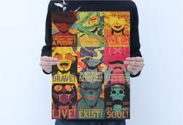 Toptan satış Kahverengi Poster anime Pinup ve Duvar kahverengi kağıt Tek Parça about50 * 35 cm