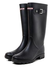 Zapato nupcial / NUEVA Mujer RAINBOOTS mate Botas de lluvia hasta la rodilla Botas impermeables zapatillas impermeables zapatillas de lluvia zapatillas altas 38CM