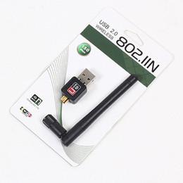 Mini 150 Mbps USB WiFi Wireless Adapter Network Networking Scheda LAN Adapter Con 2dbi Antenna Per Accessori Per Computer 100 pz / lotto DHL libero
