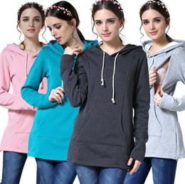 9aae3ab994fe9 Breastfeeding Clothing NZ - Nursing Hoodie Maternity Clothes For Pregnant  Women Breastfeeding Clothing Mom Spring Tops