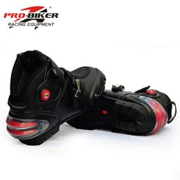 bikers boots UK - Pro-biker professional motorcycle boots men racing motorbike boots botas motorcycles moto riding shoes Size 40-45 black A9003
