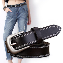 Leather Belt Decorations Canada - Vintage Leisure all match women leather decoration belts jeans with classic needle buckle Luxury designer waistband youth student favourite