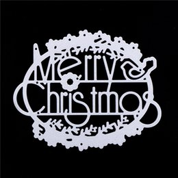 Card die punCh online shopping - merry Christmas Scrapbook Card album PAPER CRAFT Noel decorative craft embossing punch cutter METAL CUTTING DIES Wish letters