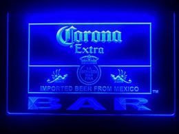 Neon Light Switch Australia - 418b- Corona Bar Beer Extra LED Neon Light Sign Provide USB on off switch wire