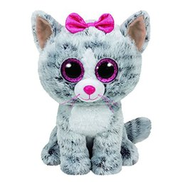 afd864a1222 Ty Beanie Boos Gray Cat unicorn Plush Toy Doll Baby Girl Birthday Gift  Stuffed   Plush Animals toys for children Stuffed Toys