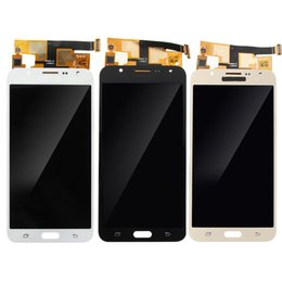 J7 Lcd Canada - For Samsung Galaxy J7 2015 J700F J700M J700H LCD Display Touch Digitizer Screen The brightness can be adjusted assembly free DHL