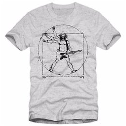 guitar tops 2019 - Da Vinci Rock T Shirt Men Casual Hip Hop Music Guitar Heavy Metal Tops Tee Shirts Cotton Harajuku Tshirt Fitness T-shirt