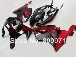 Kawasaki Zx 7r Fairings Australia - K248 BODY KIT Red flames blk Fairing for KAWASAKI Ninja ZX7R 96-03 ZX-7R1996-2003 ZX 7R 96 97 98 99 00 01 02 03 1996 2003