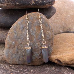 Earring Wholesalers Usa Australia - Bohemia Dangle Earrings Europe & USA Ear Wire Temperament Natural Stone Ear Wire Joker Wholesale Accessories Manufacture
