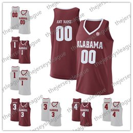 alabama jerseys NZ - Alabama Crimson Tide Custom Any Name Any Number Personalized White Red Stitched #2 Sexton 33 Landon Fuller NCAA College Basketball Jerseys