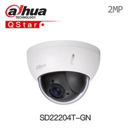 2mp Ip Camera Dome Dahua Australia - Dahua SD22204T-GN 1080P PTZ 4X Optical Zoom 2MP mini Dome IP Camera WDR IVS POE IP66 IK10 onvif replace DS-2DE3304W-DE with logo